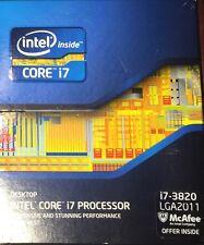 Intel i7 3820, 3.6GHZ,10MB cache,Socket LGA2011,130W. Brand New. Free shipping!