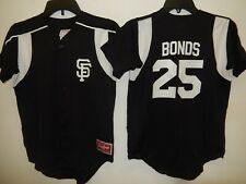 0213 Boys Youth San Francisco Giants BARRY BONDS Full Button Baseball JERSEY
