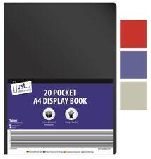Just Stationery-A4 Flexi COVER DISPLAY BOOK 20 POCKET colori assortiti