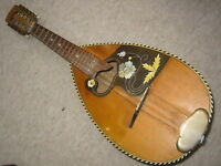 Nice old mandolin w. floral inlays! needs service