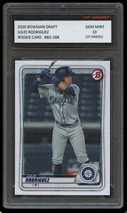 JULIO RODRIGUEZ 2020 BOWMAN DRAFT Topps 1ST GRADED 10 ROOKIE CARD RC MARINERS