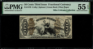 FR-1370 $0.50 Third Issue Fractional Currency - 50 Cent - Graded PMG 55 EPQ
