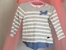 Cute Baby Girls H&M Striped Long Sleeve Top 6-9m🎀