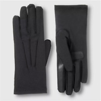 Isotoner Women's SmarTouch Spandex Fleece-Lined Gloves, Black, One Size