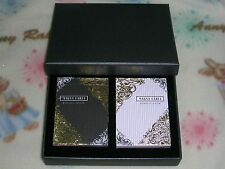 1 Set 2 Decks of Magna Carta REBEL Playing Cards BLACK/WHITE + luxury box