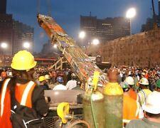 9/11 WTC GROUND ZERO REMOVING THE LAST BEAM 8x12 SILVER HALIDE PHOTO PRINT