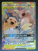 Raichu & Alolan Raichu GX 54/236 | Ultra Rare Pokemon Tag Team Unified Minds