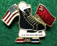 Russia. Leningrad. USA-USSR. Ice Hockey Pin. c. 1970th. (BI#OffBx)