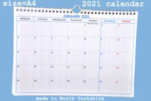 2021 CALENDAR - A4 size - made in UK