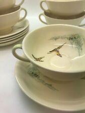 """RARE! Vintage Royal Doulton """"The Coppice soup coups bowls & saucers"""