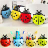 EE_ CUTE LADYBUG TOOTHBRUSH HOLDER SUCTION LADYBIRD TOOTHPASTE WALL SUCKER WONDE