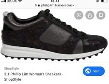 3.1 phillip lim Black Trainers Sneakers Copper Navy Toe Size 38 Uk 5
