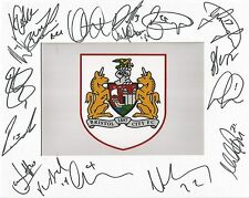 A 10 x 8 inch mount personally signed by 16 members of the Bristol City squad.