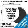 Custom Printed Coaster • Personalised Drinks Mats Bar Coasters Logo Image Photo