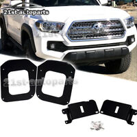 Fit 16-20 Toyota Tacoma LED Fog Light Mount Bumper Pod Driving Lamp Bracket Kit