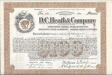 D. C. HEATH  & COMPANY (MAINE).......1925 STOCK CERTIFICATE