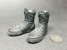 "1:6 BBI GSG9 Black Adidas Boots 12"" GI Joe BBI Dragon DamToy SEAL VBSS Delta BHD"