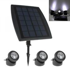 3X Waterproof Solar Powered LED Spotlight Spot Light Lamp Garden Pool Pond UK