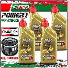 KIT TAGLIANDO OLIO CASTROL POWER 1 RACING 5w40+FILTO CHAMPION BMW R1200 RT2007