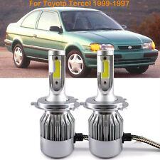 For Toyota Tercel 1999-1997 Car Front H4 9003 LED Headlight Kit Power Bulb 6000k