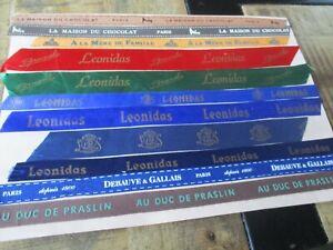 Tissus collector,Thème chocolat-Lot Leonidas,a la mère de famille,Debauve&G...