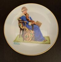 "Vintage 1984 Norman Rockwell ""Bedtime"" Decorative Plate 6.5"" Diameter Made in Ja"