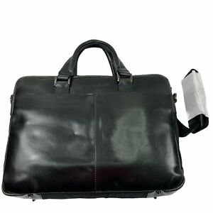 Robert Graham Mens Mantalos Zip Slim Briefcase Messenger Bag Charcoal Gray OS