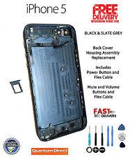 Volver cubrir vivienda de reemplazo con piezas internas ensamblado Para Iphone 5 Negro
