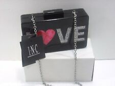 Inc. International Concept Love Clutch Black Lucite Designer Purse