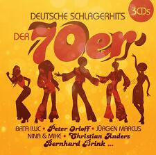 CD Deutsche Schlagerhits Le années 70 d'Artistes Divers 3cds