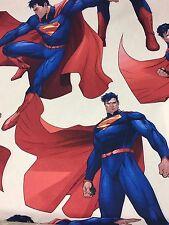DISNEY DC Superman Uomo di Acciaio, 100% Cotone Tessuto Materiale per artigianato e Abito