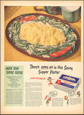 1946 Vintage ad for Birds Eye Green Beans Photo Recipe (112616)