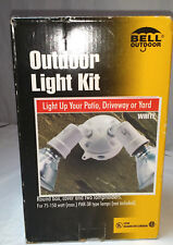Hubbell Bell Outdoor White Patio Driveway Yard Round Box Flood Light Kit 5829-6