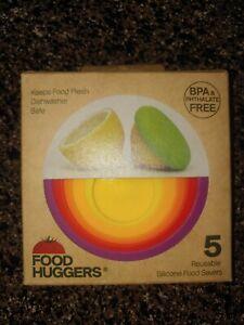 Food Huggers - Set of 5 - Round Reusable Silicone Food Savers