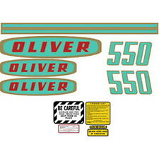 NEW 550 OLIVER TRACTOR COMPLETE DECAL SET HIGH QUALITY DECAL KIT 🎯