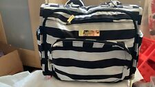 Jujube Bff Legacy Diaper Bag Backpack Black/White Stripes (The First Lady)
