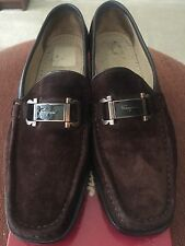 Salvatore FERRAGAMO Fiorente 9B Suede Loafer Shoes~Florence ITALY!