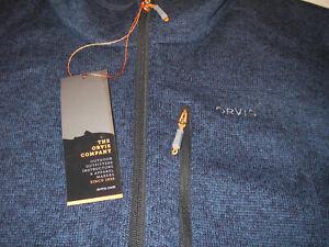New Orvis Full Zip Fleece Sweater Vest Navy Blue Men's Sz L Insulated NWT 2BYK