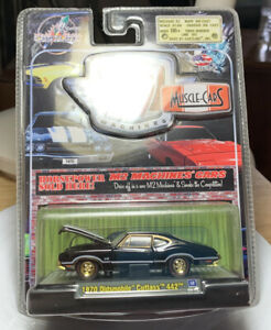 M2 Machines Muscle Cars '70 Olds Cutlass 442 Black 1/64 Diecast Gold Chase