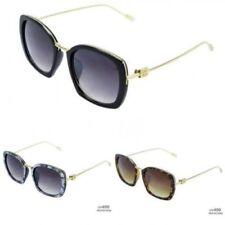 Gafas de sol de mujer cuadrado cuadrado, de 100% UVA & UVB