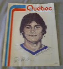 1976-77 WHA Quebec Nordiques vs Phoenix Roadrunners Hockey Program