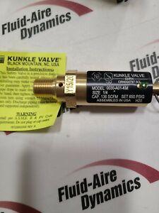 """30A-600  Kunkle Valve, Safety, 650psi, 136scfm, 1/4""""npt"""