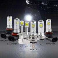 H1/H3/H4/H7/H11/9005/9006 80W LED Nebel Scheinwerfer Birnen Kit Weiß Lampen DRL