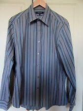 Men's shirt. L.Next. Blue/grey stripes.Cotton blend.VGC.