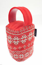Traditional Tapestry Door Stop. Nordic Snowflake Design Gift for the Home