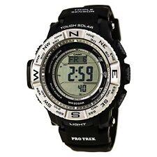 Relógio Casio Masculino Pro Trek com SENSOR TRIPLO mostrador cinza Digital Relógio Pulseira Preta PRW3500-1