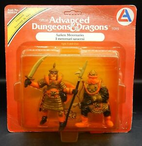 1982 tsr SARKEN MERCENARIES Advanced Dungeons & Dragons PVC figures LJN Italian