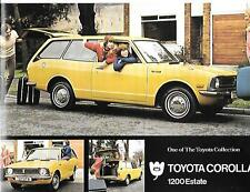 PAIR OF TOYOTA COROLLA 1200 ESTATE SALES 'BROCHURE'/SHEET EARLY 70's