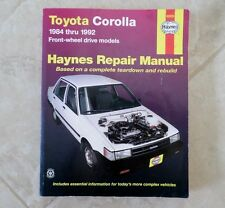 Toyota Corolla FWD1984 -1992 Haynes Repair Manual Based on a Teardown & Rebuild
