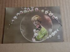 Postcard WW1 Glamour Card With Soldier Message on Back